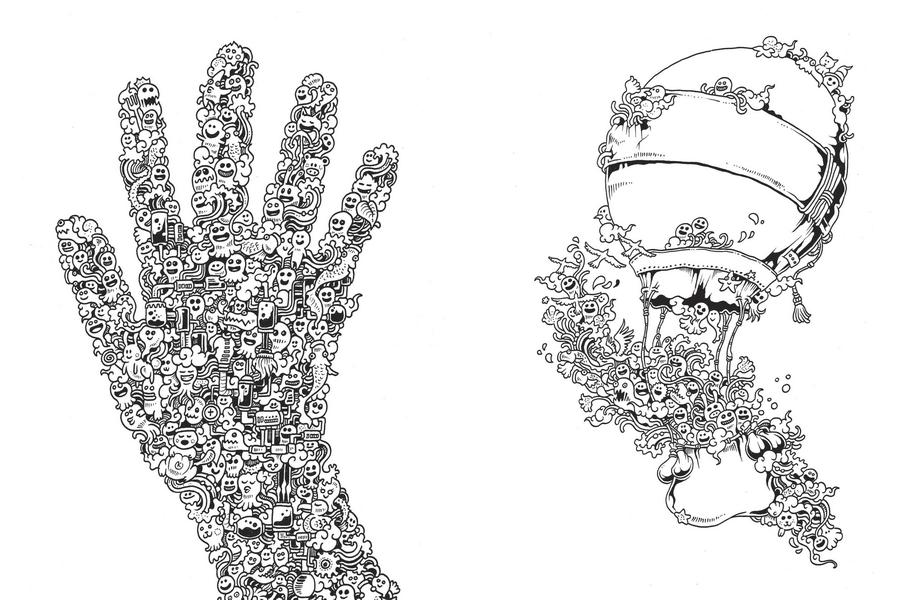 вторжение дудлов раскраска лабиринт